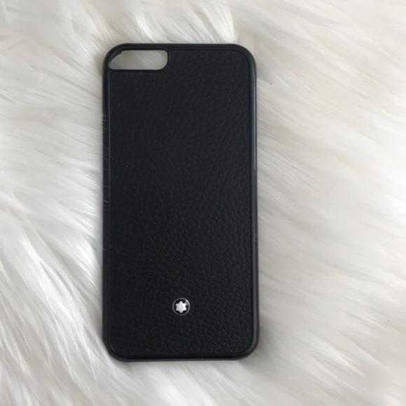 best service c90cd 3212d MontBlanc Leather iPhone 6 phone case